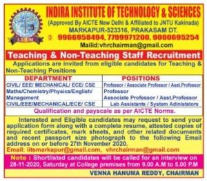 Indira Institute Of Technology And Sciences